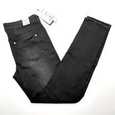 Buffalo David Bitton Mimi Mid Rise Slim Boyfriend Jeans Black Womens Size 4 / 27
