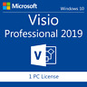 Genuine  Visio 2019 Professional. 32/64 bit. Product Key / Code + Download LINK