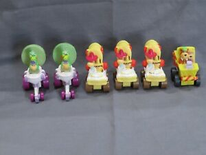 Lot of 6 Carl's Jr Kids Meal Toys 1990 Fender Bender Yogi Magilla Huckleberry ++