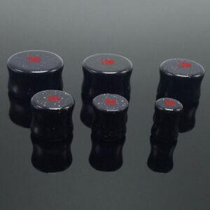1 pcs Organic Natural Stone Ear Flesh Tunnels Plugs Saddle Double Flare Ear CA