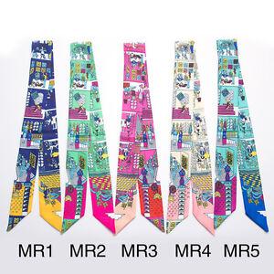 AMIGO Twilly Multi-Use Silk Scarf Wrist Head Band Bag Ribbon Bow Tie Wrap JJMR