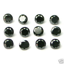 1 Carats 2mm BLACK ROUND BRILLIANT POLISHED DIAMONDS