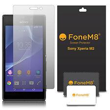 Pack de 5 véritable fonem8 Protections d' ÉCRAN POUR Sony Xperia M2