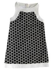 Maria Casero by Luli & Me Black/Ivory Girls Sleeveless Party Dress Size 8 NWT