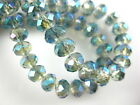 100Pcs 6x4mm Faceted Glass Crystal Loose Beads Spacer Rondelle Jewelry Findings