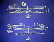"""Vintage Ocean Kayak Boat 1889 Print Blueprint Plan 16""""x20""""  (301)"""