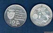 Andorre - 10 Diners 1989 I Coupe Du Monde De Football Italie 1990 - Andorra