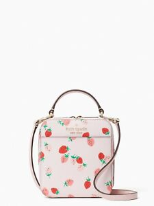 Kate Spade Daisy Wild Strawberries Vanity Crossbody In Pink Multi Free Shipping