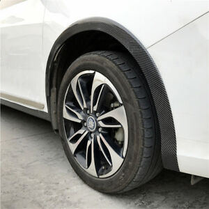 5cm X 1.5M Car Fender Flare Carbon Fibre Looking Rubber Wheel Eyebrow Protector