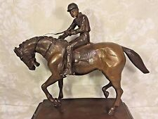 Vtg Bronze Horse and Jockey in Manner of Isadore Bonheur