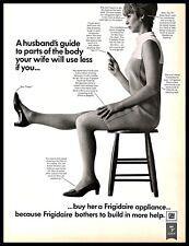 1968 Frigidaire Home Appliances Vintage PRINT AD GM Wife Body Parts B&W 1960s