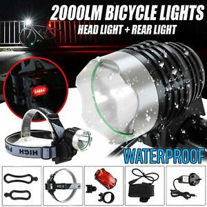 2000LM LED CREE Bike Front Lamp Bicycle XML T6 Cycling Torch Headlight UK