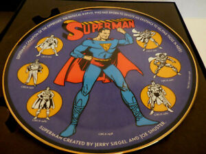 WARNER BROS SUPERMAN THROUGH THE AGES 1998 Collector's Plate #434/2500 NIB