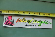 Island Magic Hawaii Aloha Surfboards Neon Clear 80's V12 Vintage Surfing Sticker