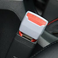 2* GREY UNIVERESAL CAR SAFETY SEAT BELT BUCKLE CLIP ADJUST EXTENSION EXTENDER`