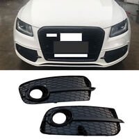 Front Bumper Grille LH&RH Fog Lamp light Trim Cover Fit For 2013-2017 Audi Q5
