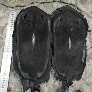 "8.2x4"" Real Stingray Fish Skin Leather Genuine Leather DIY Soft Hide Pelt Black"