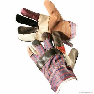 Gardening Rigger Gloves Heavy Duty Leather Garden Work Gauntlets mens womens