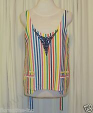 GORGEOUS SASS&BIDE RAINBOW STRIPED RELAXED FIT TOP 38/2 (AUS 8)