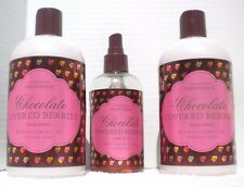 Lot 2 New Victoria's Secret Chocolate Covered Berries Body Lotion Mist Rare HTF