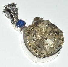 Peruvian Golden Pyrite 925 Sterling Silver Pendant Jewelry JB14178