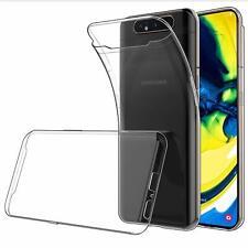 For Samsung Galaxy A80 Case Clear Silicone Slim Gel Cover & Stylus Pen