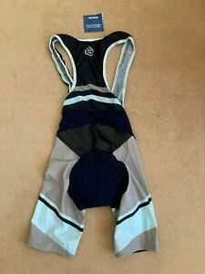 Skins Mens Navy,Light Blue & Grey Bib Shorts Set-BNWT