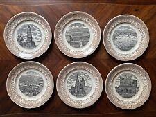 Série de 6 assiettes opaques SARREGUEMINES - Ville de LYON