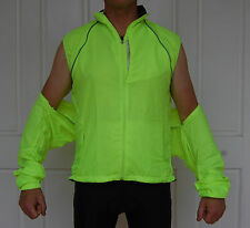 Jaggad Windproof Water Repellant Bike Cycling Rain Jacket Fluro Yellow unisex