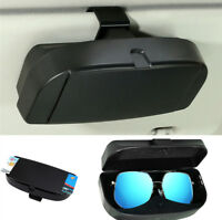 Car Sun Visor Mounted Glasses Case Cards Storage Box Durable ABS Plastic Black
