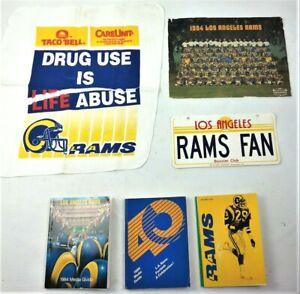 LA Rams Memorabilia 84 85 86 Media Guide 84 Team Photo Booster Club License 80s