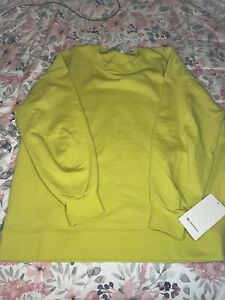 NWT lululemon perfectly oversized crew sz12 Yellow Serpentine