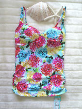 Sale Seafolly Geisha 8 Aus Singlet Convertible Cross Booster Pad Dahlia New