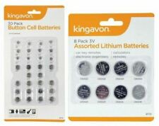 30pc 8pc Kingavon sortiert Lithium Coin Cell Button Batteries AG LR CR Bulk