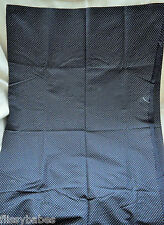 """Small White Dot Pattern on Black Fabric 44"""" wide by 52"""" long NEW"""