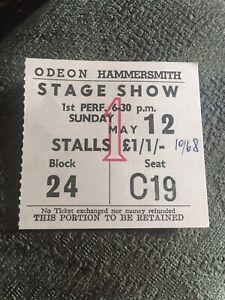 1968 Aretha Franklin Concert Ticket Hammersmith Odeon Robert Knight