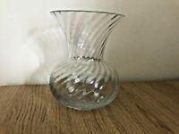 Dartington crystal flared 'Etruscan' ripple vase, Frank Thrower design