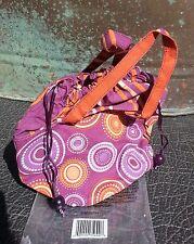 NWT 70's Retro Design Makeup Bag - Purple Orange White