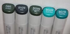 5 Copic SKETCH Markers-STONE GREENS Set-Alcohol ink markers