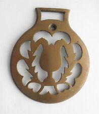 Victorian Brass SADDLE Decoration: Folk Art Design
