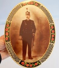Late 19th or Early 20th Century France French Soldier Photo Display w Stand