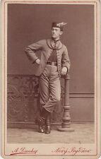 Photo cdv : A.Dunka ; Homme en habit de tradition (ou militaire) vers 1875