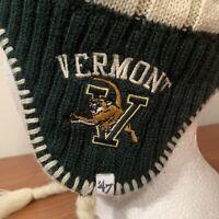 UVM Vermont Winter Hat Beanie Cap Adult University College Catamounts 47 Brand