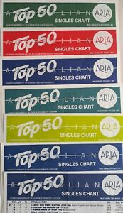 7 AUSTRALIAN ARIA TOP 50 SINGLES & ALBUMS CHARTS FOR 1987