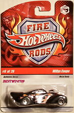 HOT WHEELS 2008 FIRE RODS WILLYS COUPE #6/26 W+