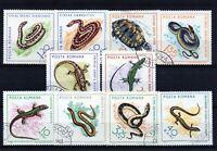 RUMANIA / ROMANIA / ROUMANIE año 1965  yvert nr. 2100/09 usada reptiles