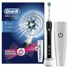 Oral-B Pro 2500 Electric Rechargeable Toothbrush Powered by Braun - Black  Packa