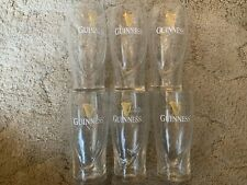 GUINNESS PINT BEER GLASSES 16oz * LOT OF 6 * NEW