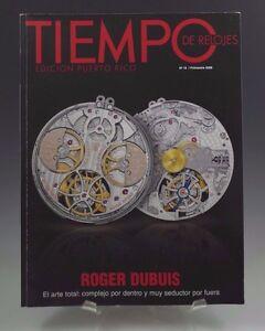 TIEMPO DE RELOJES ROGER DUBUIS WATCH CATALOG 2008 SPANISH