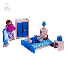 Maison de poupées Rein Tabouret inachevée Bare Bois Miniature Meubles de chambre